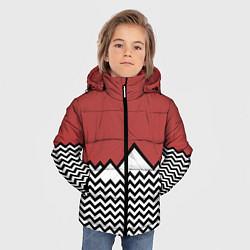 Куртка зимняя для мальчика Горы Твин Пикс цвета 3D-черный — фото 2