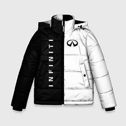 Куртка зимняя для мальчика Infiniti: Black & White цвета 3D-черный — фото 1