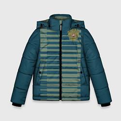 Детская зимняя куртка для мальчика с принтом Сборная России: Вратарская ЧМ-2018, цвет: 3D-черный, артикул: 10149543506063 — фото 1