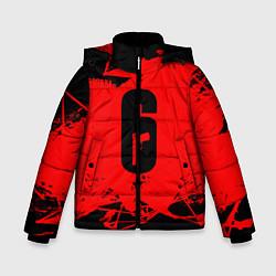 Куртка зимняя для мальчика R6S: Red Outbreak цвета 3D-черный — фото 1