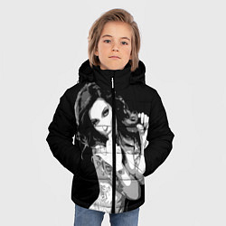 Куртка зимняя для мальчика Sexy Girl: Black & White цвета 3D-черный — фото 2