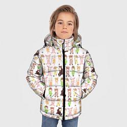 Детская зимняя куртка для мальчика с принтом MONSTA X 10, цвет: 3D-черный, артикул: 10150080706063 — фото 2