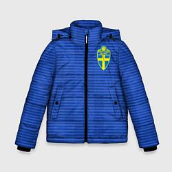 Куртка зимняя для мальчика Сборная Швеции: Гостевая ЧМ-2018 цвета 3D-черный — фото 1