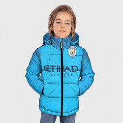 Детская зимняя куртка для мальчика с принтом FC Man City: Home 18-19, цвет: 3D-черный, артикул: 10152567106063 — фото 2