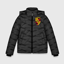 Куртка зимняя для мальчика Porsche: Grey Sport цвета 3D-черный — фото 1