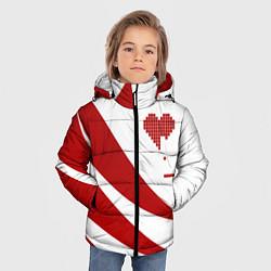 Куртка зимняя для мальчика Игра в сердца цвета 3D-черный — фото 2