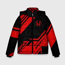Куртка зимняя для мальчика Honda: Techno Sport цвета 3D-черный — фото 1