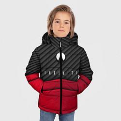 Куртка зимняя для мальчика Infiniti: Red Carbon цвета 3D-черный — фото 2