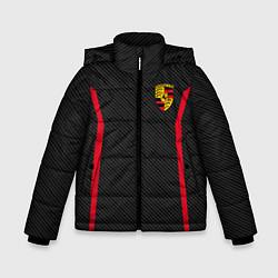 Куртка зимняя для мальчика Porsche: Sport Edition цвета 3D-черный — фото 1
