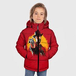 Куртка зимняя для мальчика Red Dead Redemption: Cowboy цвета 3D-черный — фото 2