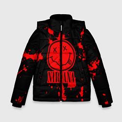 Куртка зимняя для мальчика Nirvana: Blooded Smile цвета 3D-черный — фото 1