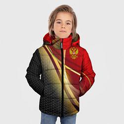 Куртка зимняя для мальчика RUSSIA SPORT: Gold Collection цвета 3D-черный — фото 2