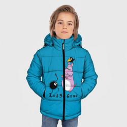 Детская зимняя куртка для мальчика с принтом Унесённые призраками, цвет: 3D-черный, артикул: 10155954506063 — фото 2