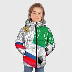Куртка зимняя для мальчика Русский футбол цвета 3D-черный — фото 2