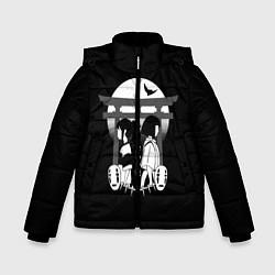 Детская зимняя куртка для мальчика с принтом Унесённые призраками, цвет: 3D-черный, артикул: 10156080106063 — фото 1