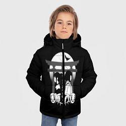 Куртка зимняя для мальчика Унесённые призраками цвета 3D-черный — фото 2