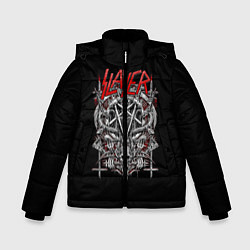 Детская зимняя куртка для мальчика с принтом Slayer: Hell Goat, цвет: 3D-черный, артикул: 10156416706063 — фото 1
