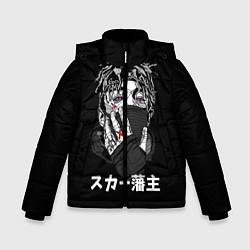 Куртка зимняя для мальчика Scarlxrd: hieroglyphs цвета 3D-черный — фото 1