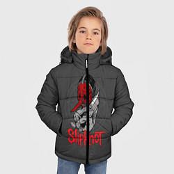 Куртка зимняя для мальчика Slipknot Chris Fehn цвета 3D-черный — фото 2