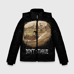 Куртка зимняя для мальчика Don't starve stories цвета 3D-черный — фото 1