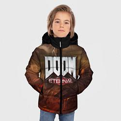Куртка зимняя для мальчика DOOM: Eternal цвета 3D-черный — фото 2