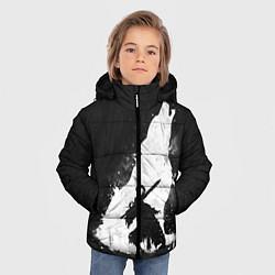 Куртка зимняя для мальчика Dark Souls: Howling Wolf цвета 3D-черный — фото 2