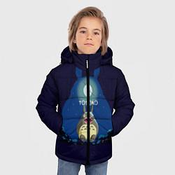 Куртка зимняя для мальчика Ночной Тоторо цвета 3D-черный — фото 2