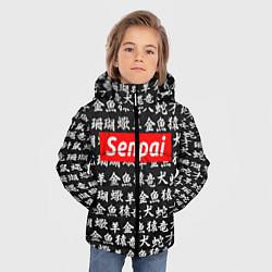 Куртка зимняя для мальчика Senpai Hieroglyphs цвета 3D-черный — фото 2