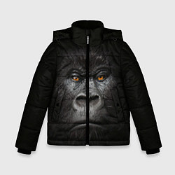 Куртка зимняя для мальчика Морда Гориллы цвета 3D-черный — фото 1