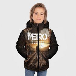 Детская зимняя куртка для мальчика с принтом Metro Exodus: Sunset, цвет: 3D-черный, артикул: 10161309306063 — фото 2