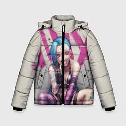 Куртка зимняя для мальчика Jinx: LoL цвета 3D-черный — фото 1