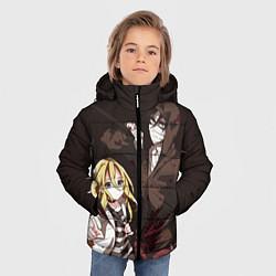 Куртка зимняя для мальчика Angels of Death цвета 3D-черный — фото 2