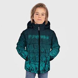Куртка зимняя для мальчика TES: Cyberpunk цвета 3D-черный — фото 2
