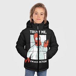 Куртка зимняя для мальчика Zoidberg: Trust Me цвета 3D-черный — фото 2