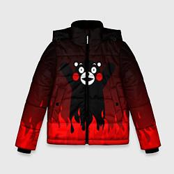 Куртка зимняя для мальчика Kumamon: Hell Flame цвета 3D-черный — фото 1