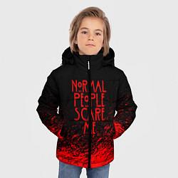 Куртка зимняя для мальчика Normal People Scare Me цвета 3D-черный — фото 2