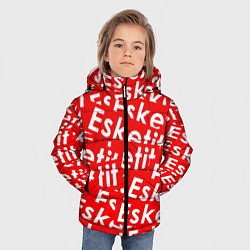 Куртка зимняя для мальчика Esketit Pattern цвета 3D-черный — фото 2