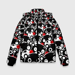 Детская зимняя куртка для мальчика с принтом Kumamons, цвет: 3D-черный, артикул: 10162796906063 — фото 1