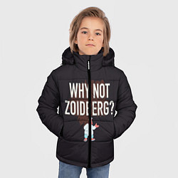 Куртка зимняя для мальчика Why not Zoidberg? цвета 3D-черный — фото 2