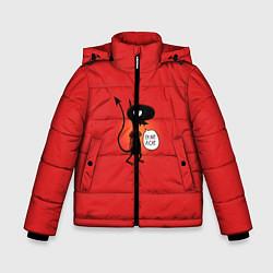 Куртка зимняя для мальчика Disenchantment: I'm not a Cat цвета 3D-черный — фото 1