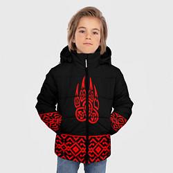 Куртка зимняя для мальчика Печать Велеса цвета 3D-черный — фото 2