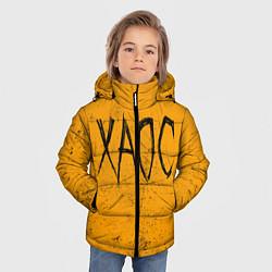 Куртка зимняя для мальчика GONE Fludd ХАОС цвета 3D-черный — фото 2