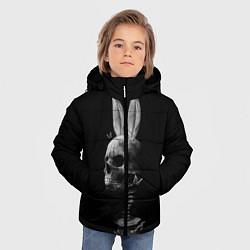 Куртка зимняя для мальчика Череп Заи цвета 3D-черный — фото 2