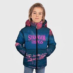 Куртка зимняя для мальчика Stranger Things: Pink Heaven цвета 3D-черный — фото 2