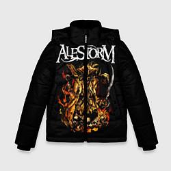 Куртка зимняя для мальчика Alestorm: Flame Warrior цвета 3D-черный — фото 1