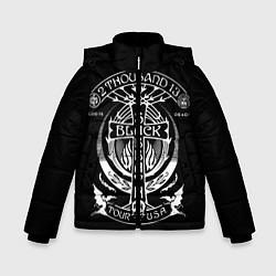 Куртка зимняя для мальчика Black Sabbath: Tour USA цвета 3D-черный — фото 1