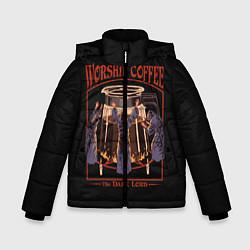 Куртка зимняя для мальчика Worship Coffee цвета 3D-черный — фото 1