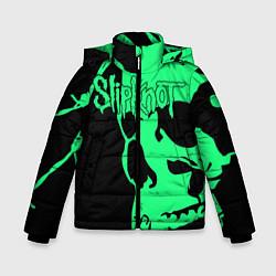 Куртка зимняя для мальчика Slipknot: Acid Skull цвета 3D-черный — фото 1