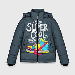 Куртка зимняя для мальчика Super Сool цвета 3D-черный — фото 1