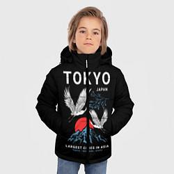 Детская зимняя куртка для мальчика с принтом Tokyo, цвет: 3D-черный, артикул: 10172524706063 — фото 2